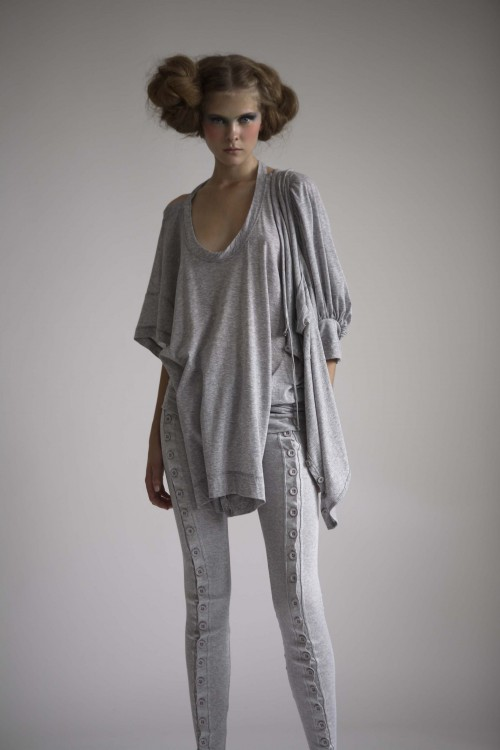 Future Classics fashion SS08 collection Fine Grey Marl Jersey Leggings & Deconstructed T set