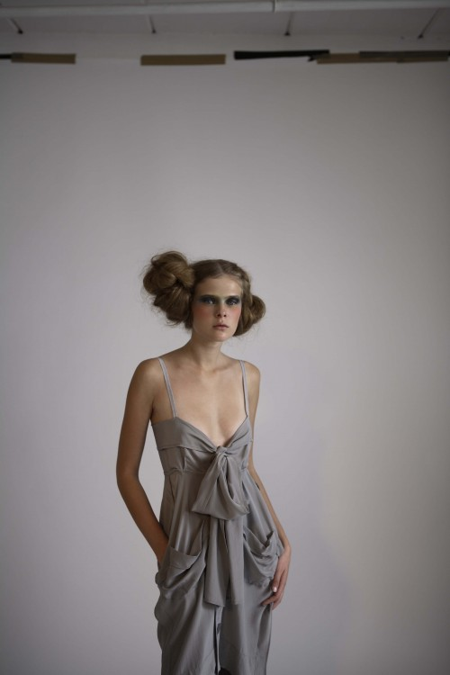 23Future Classics fashion SS08 collection Grey Silk Bow Front Strappy Dress
