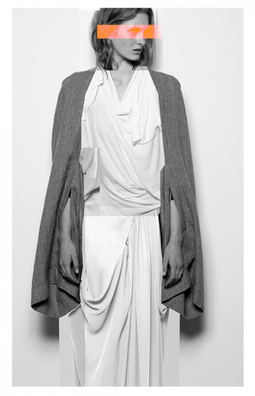 Future Classics fashion SS14 Cool White T Look 3 White Twinset, White Maxi and Linen Cape Shrug