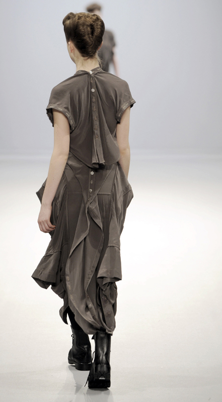 Future Classics fashion AW09 collection: Waste Not Want Not Look 18 Silk Dress
