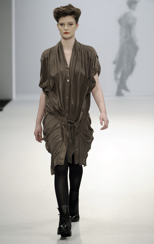 Future Classics fashion AW09 collection: Waste Not Want Not Look 19 Silk Dress