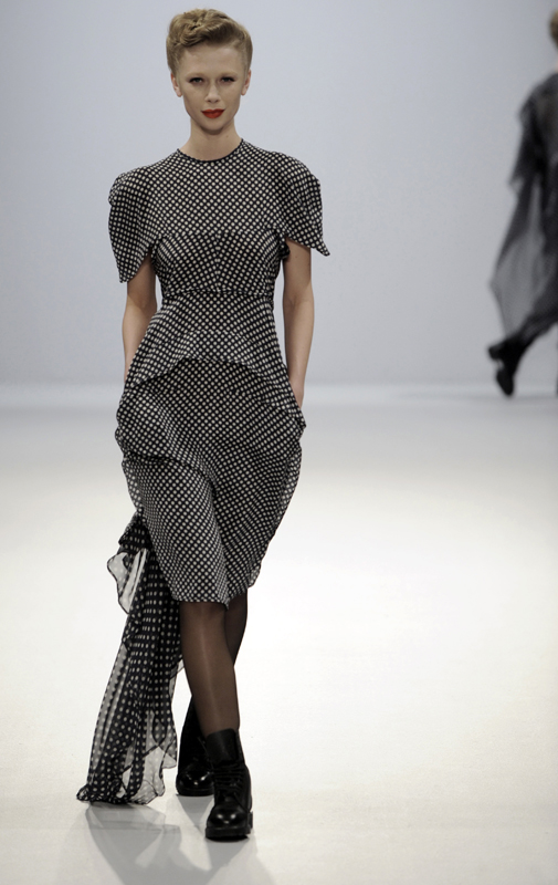 Future Classics fashion AW09 collection: Waste Not Want Not Look 30 Polka Dot Silk