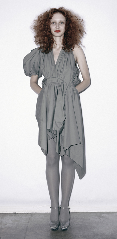 Future Classics fashion SS 11 collection: Sophisticated Jellybeans Look 1 Grey Dress