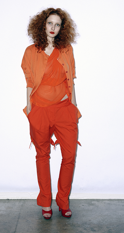 Future Classics fashion SS 11 collection: Sophisticated Jellybeans Look 11 Orange Dress Set