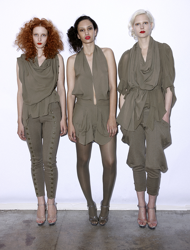 Future Classics fashion SS 11 collection: Sophisticated Jellybeans Look 18 Khaki Dress Sets