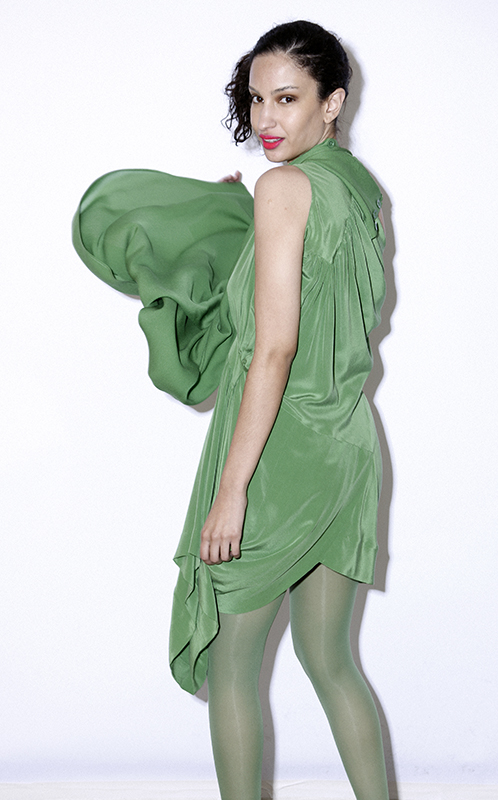 Future Classics fashion SS 11 collection: Sophisticated Jellybeans Look 26 Green Dress Set