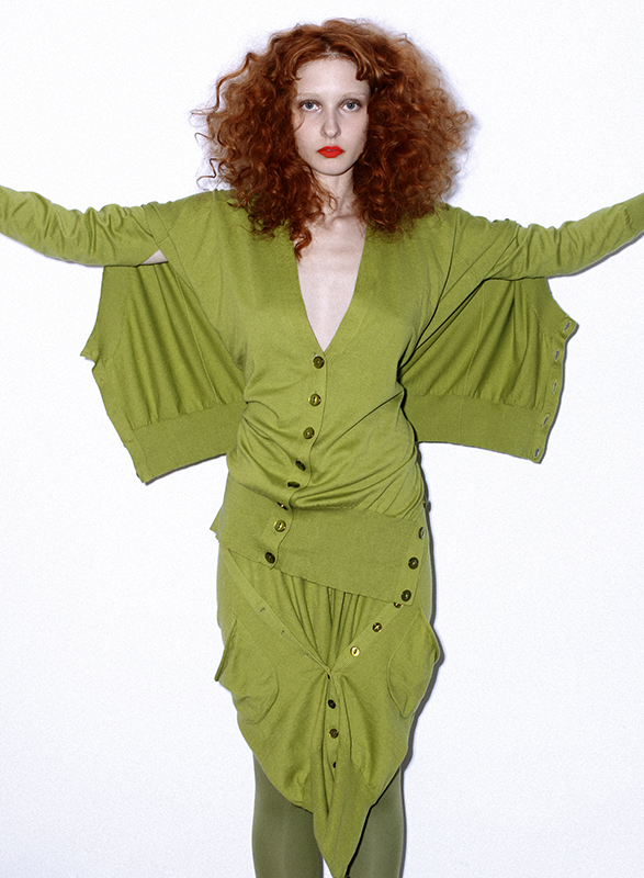 Future Classics fashion SS 11 collection: Sophisticated Jellybeans Look 31 Acid Olive Knitwear Set
