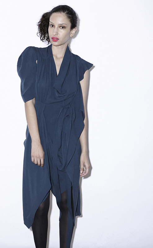 Future Classics fashion SS 11 collection: Sophisticated Jellybeans Look 34 Petrol Blue Dress