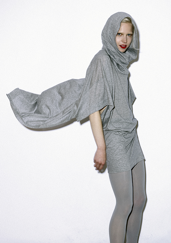 Future Classics fashion SS 11 collection: Sophisticated Jellybeans Look 5 Hooded Backless  T dress