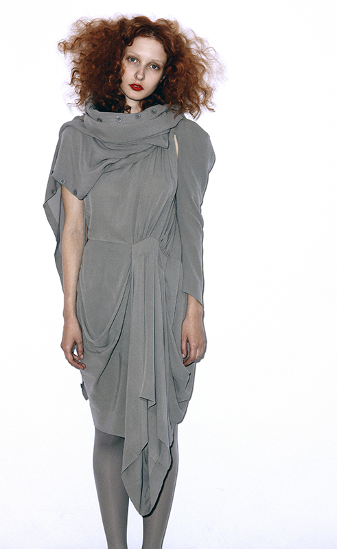 Future Classics fashion SS 11 collection: Sophisticated Jellybeans Look 7 Grey Silk Dress Set