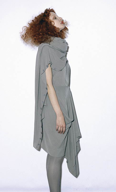 Future Classics fashion SS 11 collection: Sophisticated Jellybeans Look 8 Grey Silk Dress Set